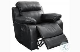 Marille Black Glider Reclining Chair