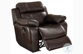 Marille Dark Brown Glider Reclining Chair