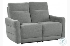 Edition Gray Power Double Reclining Loveseat