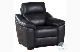 Renzo Dark Gray Leather Power Reclining Chair