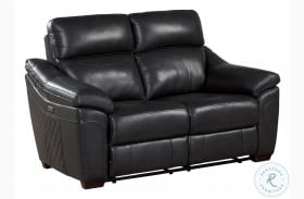 Renzo Dark Gray Power Double Reclining Loveseat