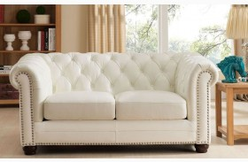 Monaco Pearl White Leather Living Room Set from Amax Leather ...
