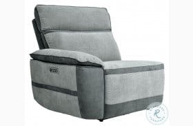 Hedera Gray LAF Power Reclining Chair With Power Headrest