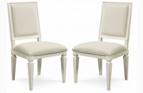 Summer Hill Cotton Woven Accent Side Chair Set of 2