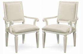 Summer Hill Cotton Woven Accent Arm Chair Set of 2