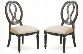 Summer Hill Midnight Pierced Back Side Chair Set of 2