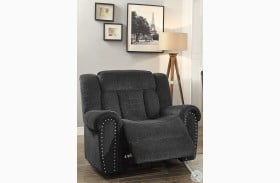 Nutmeg Charcoal Gray Glider Reclining Chair