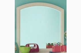 Park City White Arched Dresser Mirror