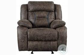 Madrona Dark Brown Glider Reclining Chair