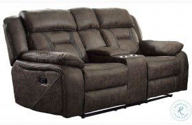 Madrona Dark Brown Double Reclining Loveseat