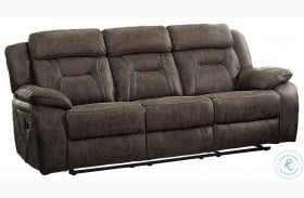 Madrona Dark Brown Double Reclining Sofa