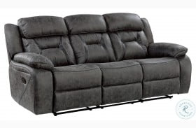 Madrona Hill Gray Double Reclining Sofa