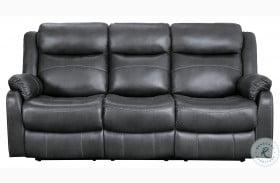 Yerba Dark Gray Double Lay Flat Reclining Sofa