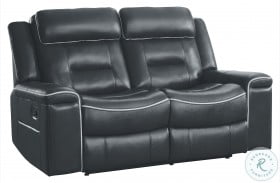 Darwan Dark Gray Double Lay Flat Reclining Loveseat