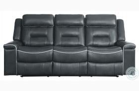Darwan Dark Gray Double Lay Flat Reclining Sofa
