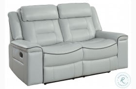 Darwan Light Gray Double Lay Flat Reclining Loveseat