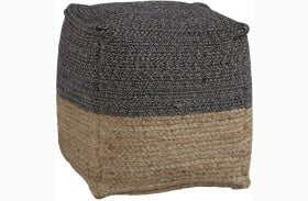 Sweed Valley Natural And Black Pouf