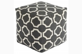 Geometric Gray Pouf