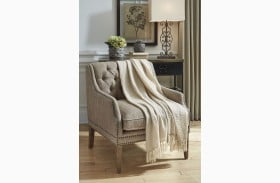 Rowena Cream Throw Set Of 3