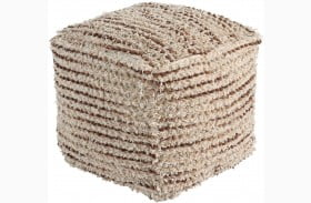 Jorge Brown and Cream Pouf