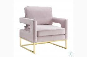 Avery Mauve Velvet Chair