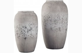 Dimitra Brown and Cream Vase Set of 2