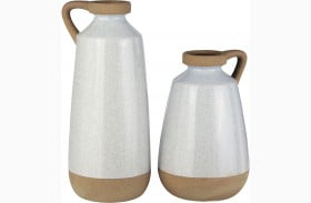 Tilbury Cream Vase Set of 2