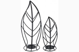 Cadelaria Black Candle Holder Set of 2