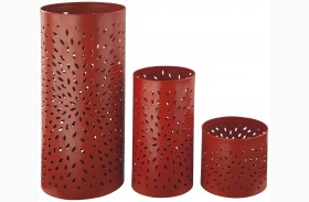 Caelan Orange Candle Holder Set of 3