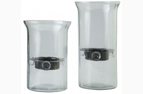 Kadeem Clear Candle Holder Set of 2
