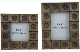 Jasiah Antique Gray Photo Frame Set of 2