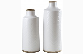 Kaelem Antique White Vase Set of 2