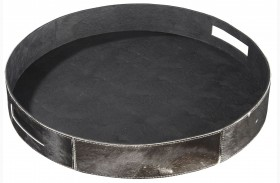 Odeda Black Round Tray Set of 2