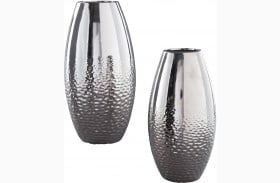 Dinesh Silver Vase Set of 2