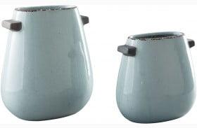 Diah Blue Vase Set of 2