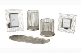 Dympna Silver Metal Accessory Set of 5