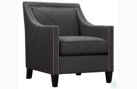 Asheville Dark Grey Linen Chair