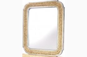 Belize Gray Woven Mirror