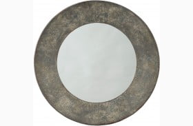 "Carine 30"" Gray Accent Mirror"