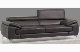 A973 Grey Italian Leather Sofa