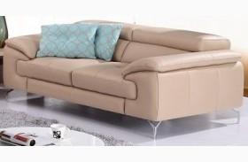 A973 Peanut Italian Leather Sofa