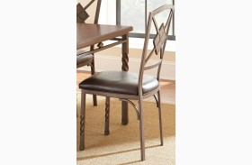 Annabella Dark Brown Side Chair Set of 4