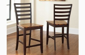 Abaco Cordovan Cherry Counter Chair Set of 2