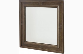 Park Studio Weathered Taupe Square Mirror