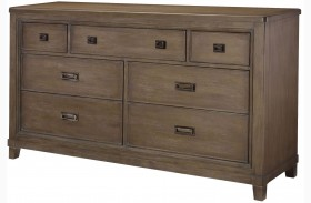 Park Studio Weathered Taupe 7 Drawer Dresser