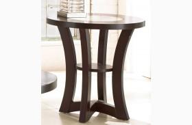 Alice Espresso End Table