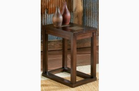 Alberto Brown Oak Chairside End Table