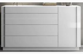 Amora Natural White Lacquer Dresser