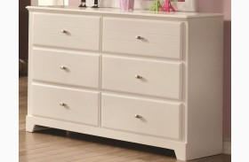 Ashton White 6 Drawer Dresser