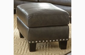 Patrese Leather Ottoman